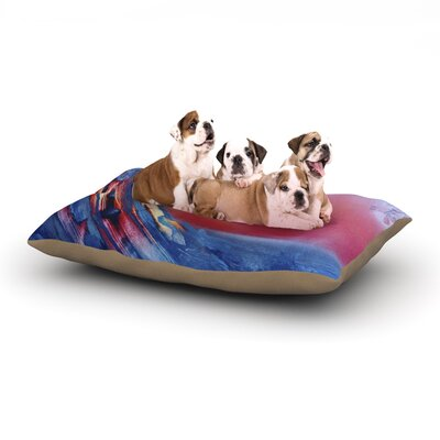 Infinite Spray Art Ideal Barrel Dog Pillow with Fleece Cozy Top Size: Large (50 W x 40 D x 8 H)