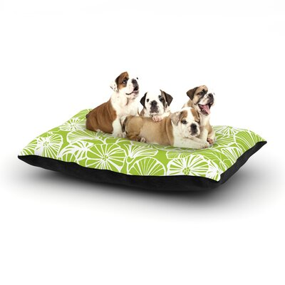 Jacqueline Milton Vine Shadow Floral Dog Pillow with Fleece Cozy Top Size: Large (50 W x 40 D x 8 H), Color: Lime/Green