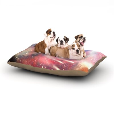 Infinite Spray Art Cascade Swirl Dog Pillow with Fleece Cozy Top Size: Large (50 W x 40 D x 8 H)