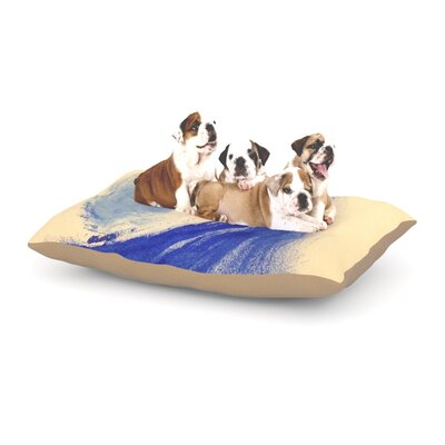 Infinite Spray Art Waveology Dog Pillow with Fleece Cozy Top Size: Large (50 W x 40 D x 8 H)