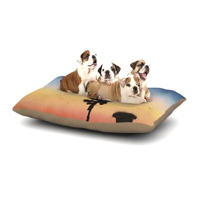 Infinite Spray Art Carlsbad Sunset Coastal Painting Dog Pillow with Fleece Cozy Top Size: Large (50 W x 40 D x 8 H)