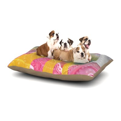 Infinite Spray Art Enlightening Dog Pillow with Fleece Cozy Top