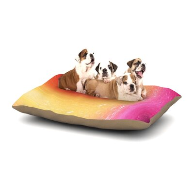 Infinite Spray Art Spacewave Dog Pillow with Fleece Cozy Top Size: Large (50 W x 40 D x 8 H)
