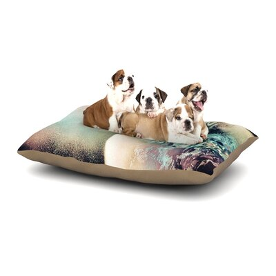 Infinite Spray Art Space Dust Space Planet Dog Pillow with Fleece Cozy Top Size: Large (50 W x 40 D x 8 H)