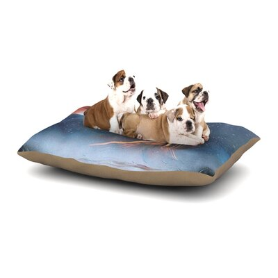 Infinite Spray Art Embark Nature Dog Pillow with Fleece Cozy Top Size: Large (50 W x 40 D x 8 H)