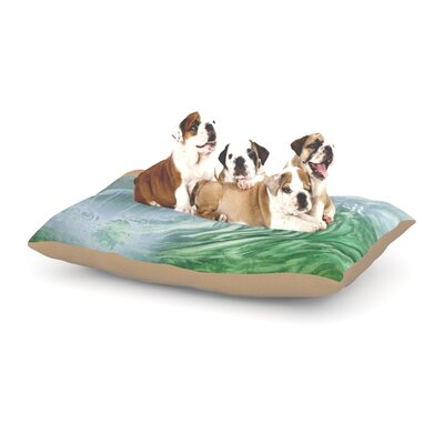 Infinite Spray Art Cant Get Enough Dog Pillow with Fleece Cozy Top Size: Large (50 W x 40 D x 8 H)