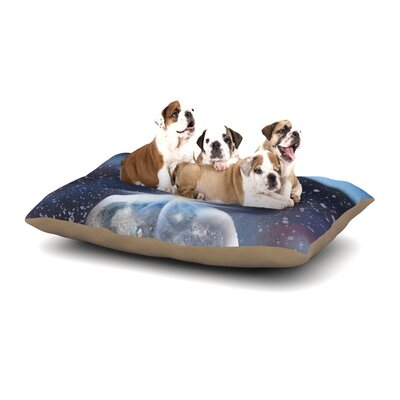 Infinite Spray Art Intergalactic Painting Dog Pillow with Fleece Cozy Top Size: Large (50 W x 40 D x 8 H)