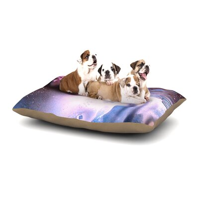 Infinite Spray Art Space Tube Dog Pillow with Fleece Cozy Top Size: Large (50 W x 40 D x 8 H)