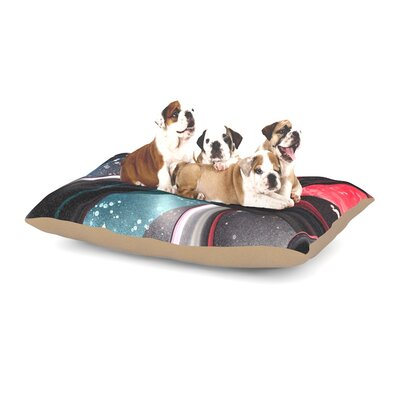 Infinite Spray Art Geometric Mars Dog Pillow with Fleece Cozy Top
