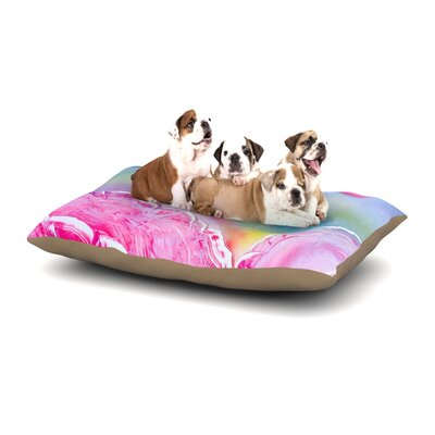 Infinite Spray Art Hideaway Dog Pillow with Fleece Cozy Top Size: Small (40 W x 30 D x 8 H)