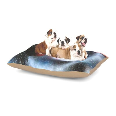 Infinite Spray Art Starburst Galaxy Dog Pillow with Fleece Cozy Top