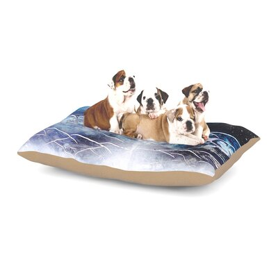 Infinite Spray Art Surreal Falls Planet Dog Pillow with Fleece Cozy Top Size: Large (50 W x 40 D x 8 H)