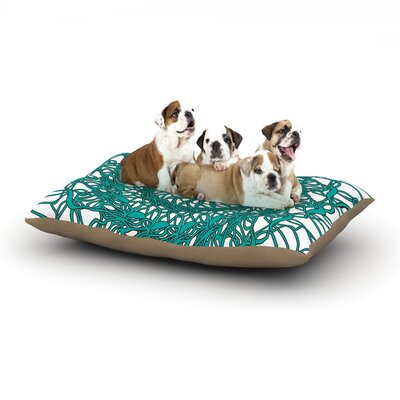 Patternmuse Mandala Spin Jade Dog Pillow with Fleece Cozy Top Size: Large (50 W x 40 D x 8 H)