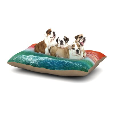 Infinite Spray Art Dream Seascape Dog Pillow with Fleece Cozy Top