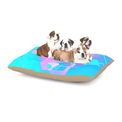 Infinite Spray Art Emersion Dog Pillow with Fleece Cozy Top