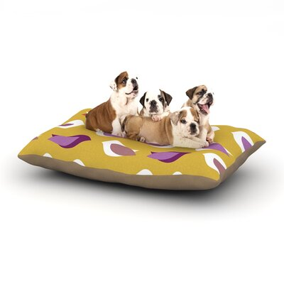 Pellerina Design Golden Orchid Birds Dog Pillow with Fleece Cozy Top Size: Small (40 W x 30 D x 8 H)