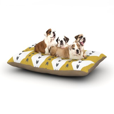 Pellerina Design Golden Aztec Dog Pillow with Fleece Cozy Top Size: Small (40 W x 30 D x 8 H)