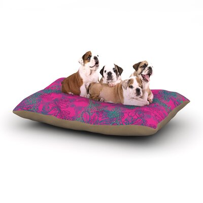 Patternmuse Jaipur Hot Pink Dog Pillow with Fleece Cozy Top Size: Large (50 W x 40 D x 8 H)