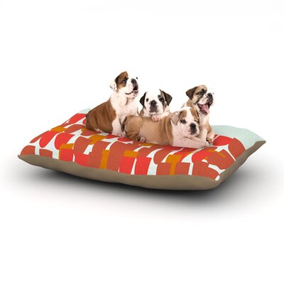 Pellerina Design Sunrise Poppies Dog Pillow with Fleece Cozy Top Size: Large (50 W x 40 D x 8 H)
