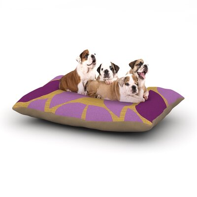 Pellerina Design Orchid Petals Dog Pillow with Fleece Cozy Top Size: Large (50 W x 40 D x 8 H)