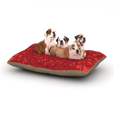 Patternmuse Mandala Spin Romance Geometric Dog Pillow with Fleece Cozy Top Size: Large (50 W x 40 D x 8 H)