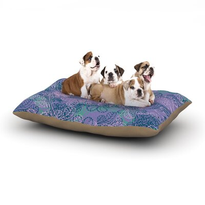 Patternmuse Jaipur Juniper Dog Pillow with Fleece Cozy Top Size: Small (40 W x 30 D x 8 H)