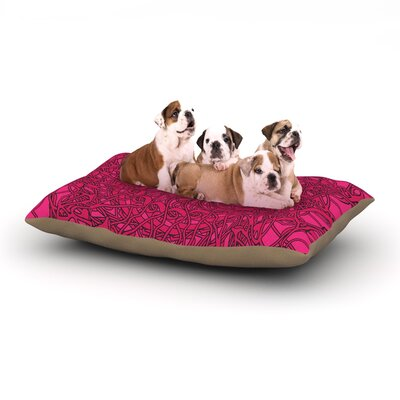 Patternmuse Mandala Spin Berry Geometric Dog Pillow with Fleece Cozy Top Size: Large (50 W x 40 D x 8 H)