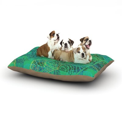 Patternmuse Mandala Mint Abstract Dog Pillow with Fleece Cozy Top Size: Small (40 W x 30 D x 8 H)