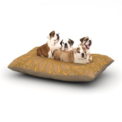 Patternmuse Mandala Spin Latte Dog Pillow with Fleece Cozy Top Size: Large (50 W x 40 D x 8 H)