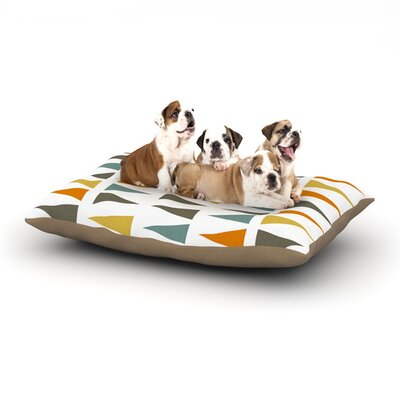 Pellerina Design Stacked Geo Triangles Dog Pillow with Fleece Cozy Top Size: Large (50 W x 40 D x 8 H)