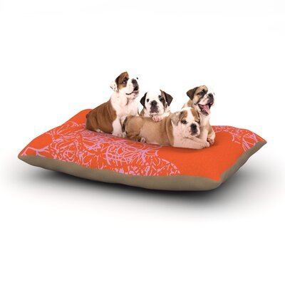 Patternmuse Mandala Pumpkin Dog Pillow with Fleece Cozy Top Size: Large (50 W x 40 D x 8 H)