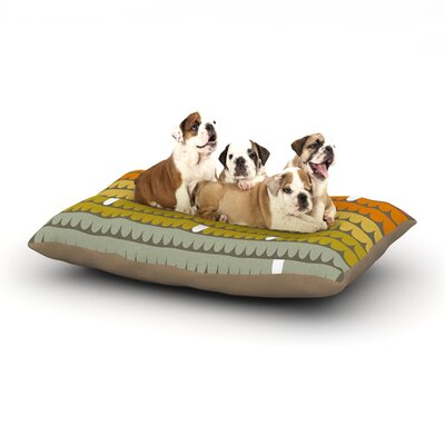 Pellerina Design Rainbow Scallops Dog Pillow with Fleece Cozy Top Size: Small (40 W x 30 D x 8 H)