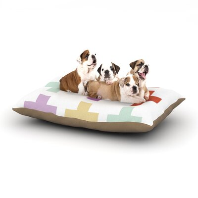Pellerina Design Mint Orchid Plus Dog Pillow with Fleece Cozy Top Size: Small (40 W x 30 D x 8 H)