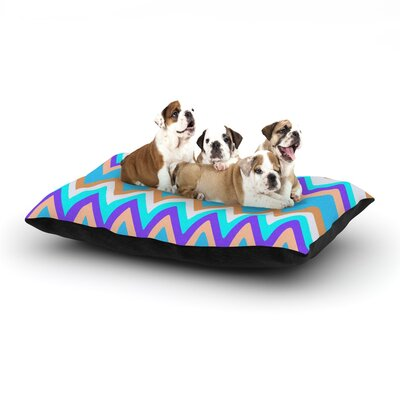 Nika Martinez Girly Surf Chevron Dog Pillow with Fleece Cozy Top Size: Large (50 W x 40 D x 8 H)