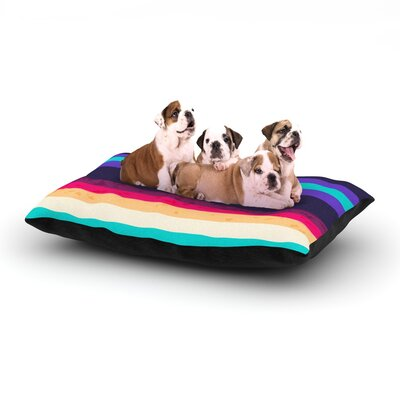 Nika Martinez Surf Stripes Dog Pillow with Fleece Cozy Top Size: Small (40 W x 30 D x 8 H)