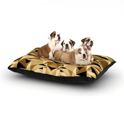 Nika Martinez Abstraction Dog Pillow with Fleece Cozy Top Size: Small (40 W x 30 D x 8 H), Color: Sand/Brown