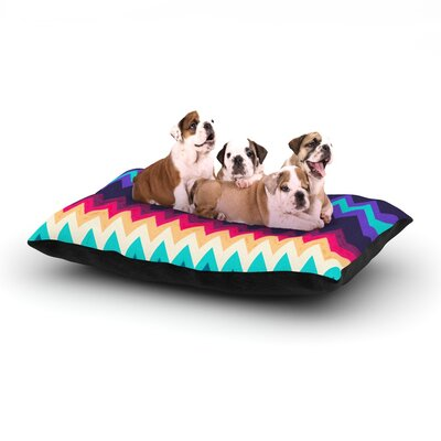 Nika Martinez Surf Chevron Dog Pillow with Fleece Cozy Top Size: Small (40 W x 30 D x 8 H)