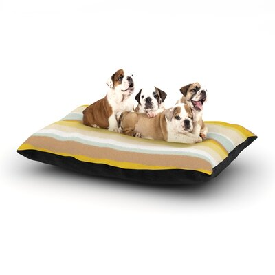 Nika Martinez Desert Stripes Dog Pillow with Fleece Cozy Top Size: Large (50 W x 40 D x 8 H)