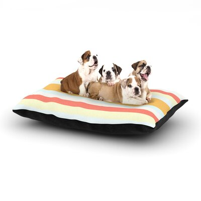 Nika Martinez Sand Stripes Dog Pillow with Fleece Cozy Top Size: Large (50 W x 40 D x 8 H)