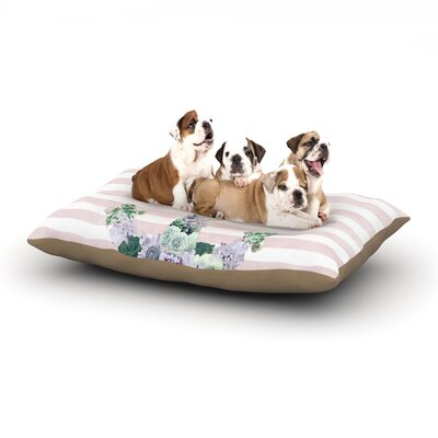 Nika Martinez Floral Anchor Stripes Dog Pillow with Fleece Cozy Top Size: Large (50 W x 40 D x 8 H)