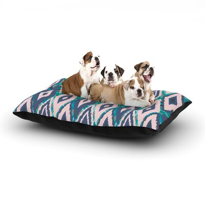Nika Martinez Tribal Ikat Dog Pillow with Fleece Cozy Top Size: Small (40 W x 30 D x 8 H)