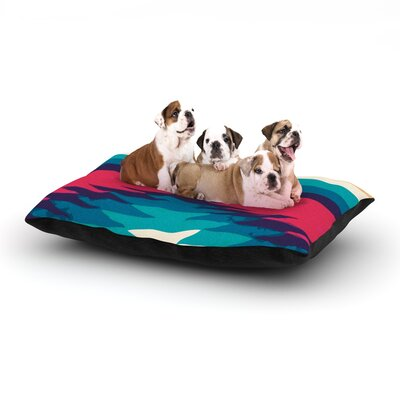 Nika Martinez Surf Dog Pillow with Fleece Cozy Top Size: Large (50 W x 40 D x 8 H)