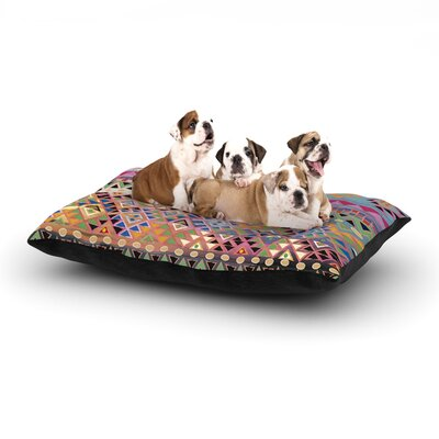 Nika Martinez Tribal Native Dog Pillow with Fleece Cozy Top Size: Large (50 W x 40 D x 8 H), Color: Red