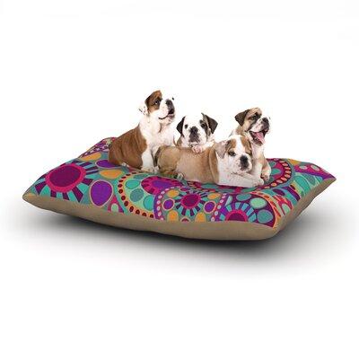Nika Martinez Valencia Dog Pillow with Fleece Cozy Top Size: Small (40 W x 30 D x 8 H)