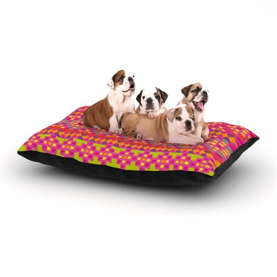 Nika Martinez Mexicalli Dog Pillow with Fleece Cozy Top Size: Large (50 W x 40 D x 8 H)