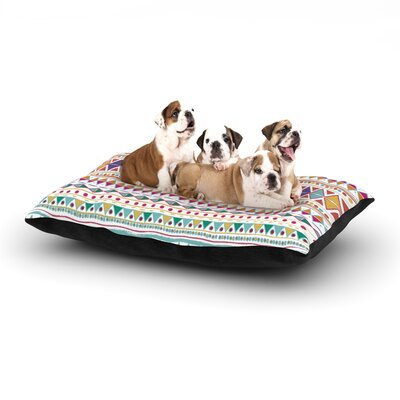 Nika Martinez Native Fiesta Dog Pillow with Fleece Cozy Top Size: Small (40 W x 30 D x 8 H)