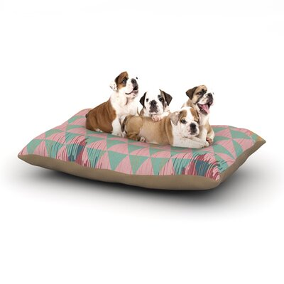 Nika Martinez Ikat Geometrie II Dog Pillow with Fleece Cozy Top Size: Small (40 W x 30 D x 8 H)