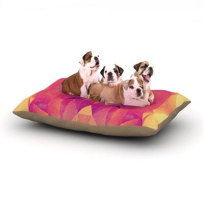 Nika Martinez Retro Pink Geometrie Dog Pillow with Fleece Cozy Top Size: Large (50 W x 40 D x 8 H)