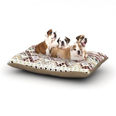 Nika Martinez Tribal Native Dog Pillow with Fleece Cozy Top Size: Small (40 W x 30 D x 8 H), Color: Pastel/Brown