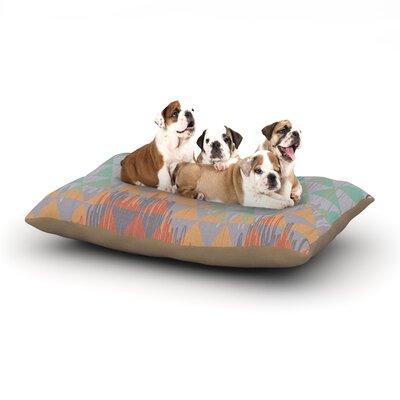 Nika Martinez Ikat Geometrie Dog Pillow with Fleece Cozy Top Size: Large (50 W x 40 D x 8 H)